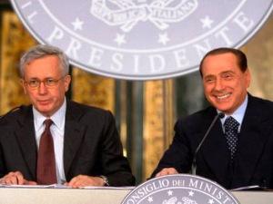 Il ministro Tremonti ed il premier Berlusconi