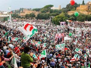 Manifestazione PD al Circo Massimo, Roma