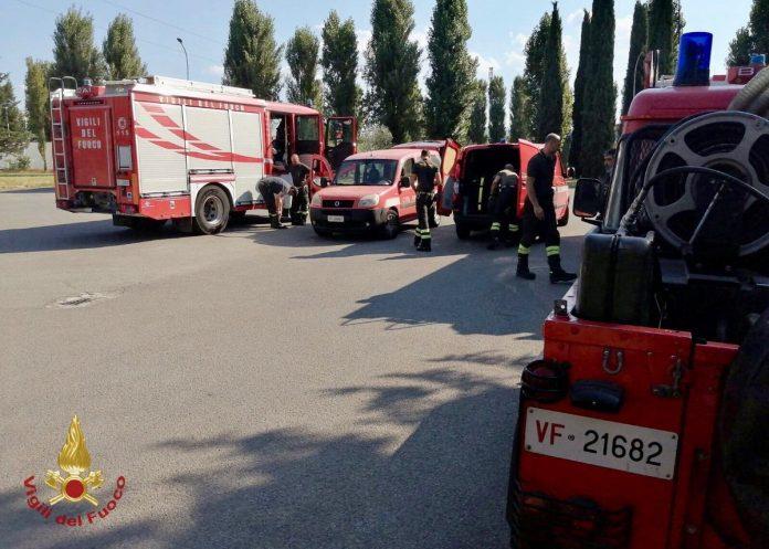 Vigili del Fuoco in azione in occasione di una delle emergenze di questa estate
