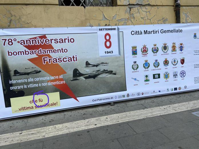 """Il banner """"incriminato"""" con l'errore grammaticale"""